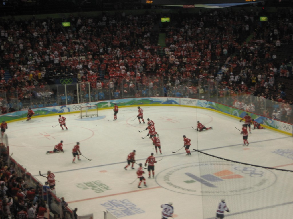 Canadians warming up