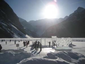 Lake Louise - Ice sculptures